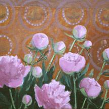 Пионы на розовом