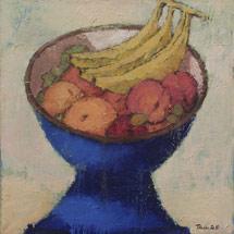 Плоды в синей вазе
